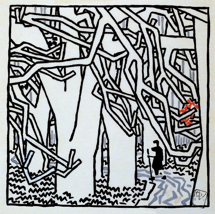 "Study for ""The House"" by  Vojtěch Preissig"