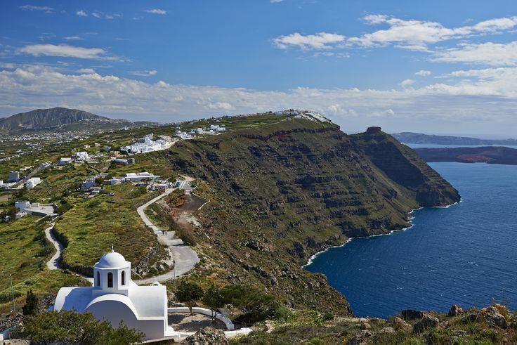 Agios Markos church at Imerovigli, Santorini, Greeece