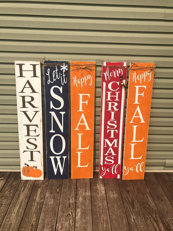 Reversible Porch Sign Harvest Porch Sign Happy Fall Porch Etsy Porch Signs Harvest Porches Fall Wood Signs
