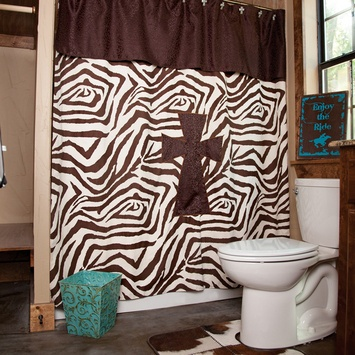 Zebra cross shower curtain western bath pinterest shower
