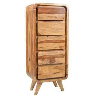 Shop for Wanderloot Oslo Mid-century Modern Sustainable Sheesham 5-drawer Lingerie Chest (India). Get free delivery at Overstock.com - Your Online Furniture Destination! Get 5% in rewards with Club O!