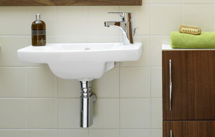 Handfat (< 50 cm bredd) från Logic. Litet handfat som lämpar sig bäst i mindre badrum.