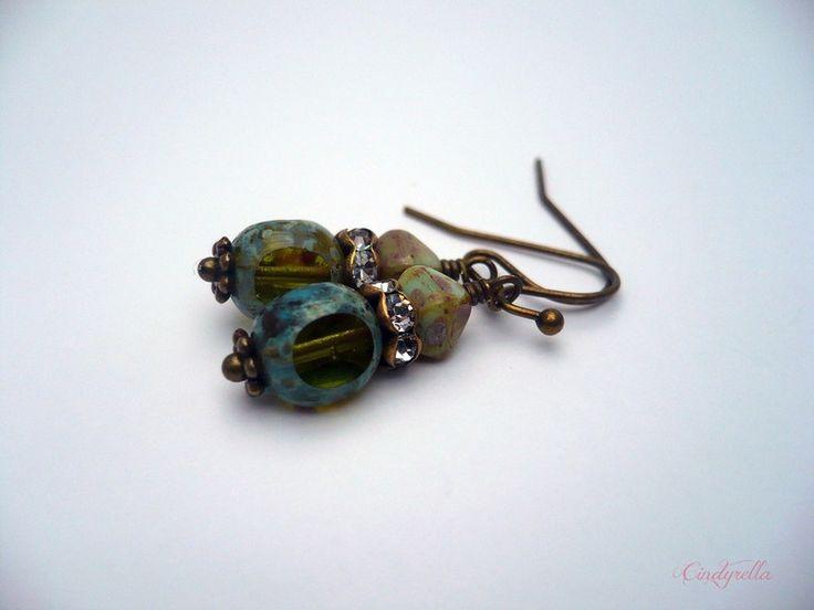 Kermit - Groene oorbellen van CindyrellaJewels op DaWanda.com