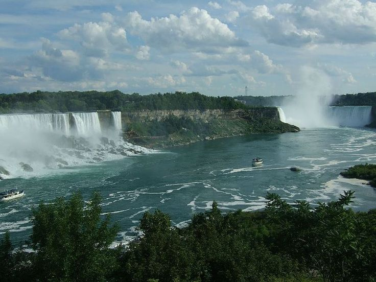 Las cataratas del Niágara (en inglés: Niagara Falls) son un grupo de cascadas situadas en el río Niágara, en la zona oriental de América del Norte, en la frontera entre los Estados Unidos y Canadá. Situadas a unos 236 metros sobre el nivel del mar, su caída es de aproximadamente 52 metros