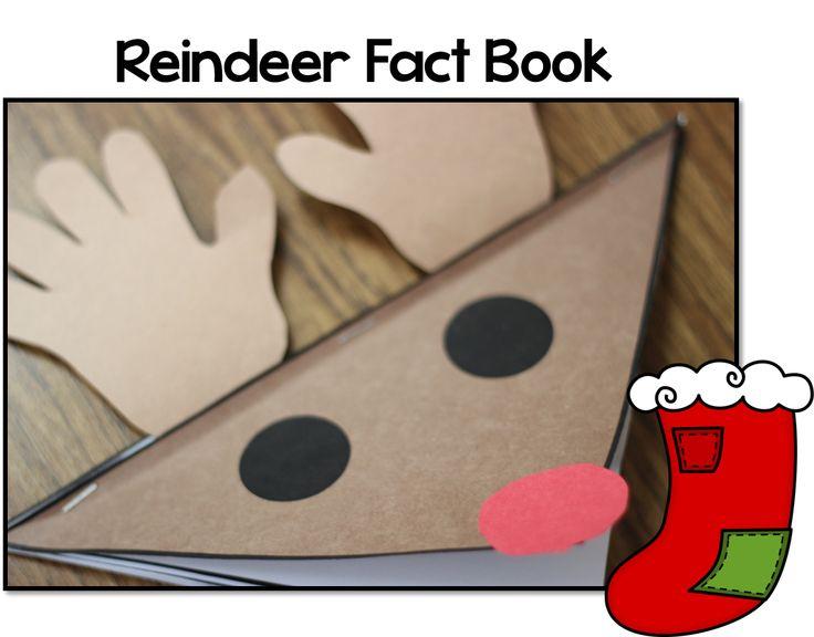 Reindeer activities: Lots of cute reindeer ideas on this blog.  LOVE this simple reindeer fact book.