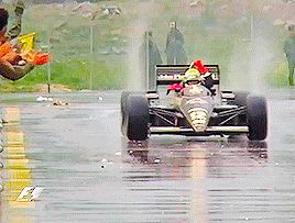 Ayrton Senna   Portuguese GP 1985. His first victory in Formula one