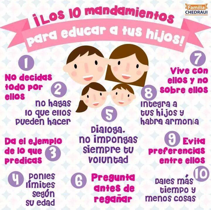10 mandamientos para educar a tu hijo