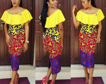 African Clothing Ladies Long Dress African by AuthentiqueDesigns