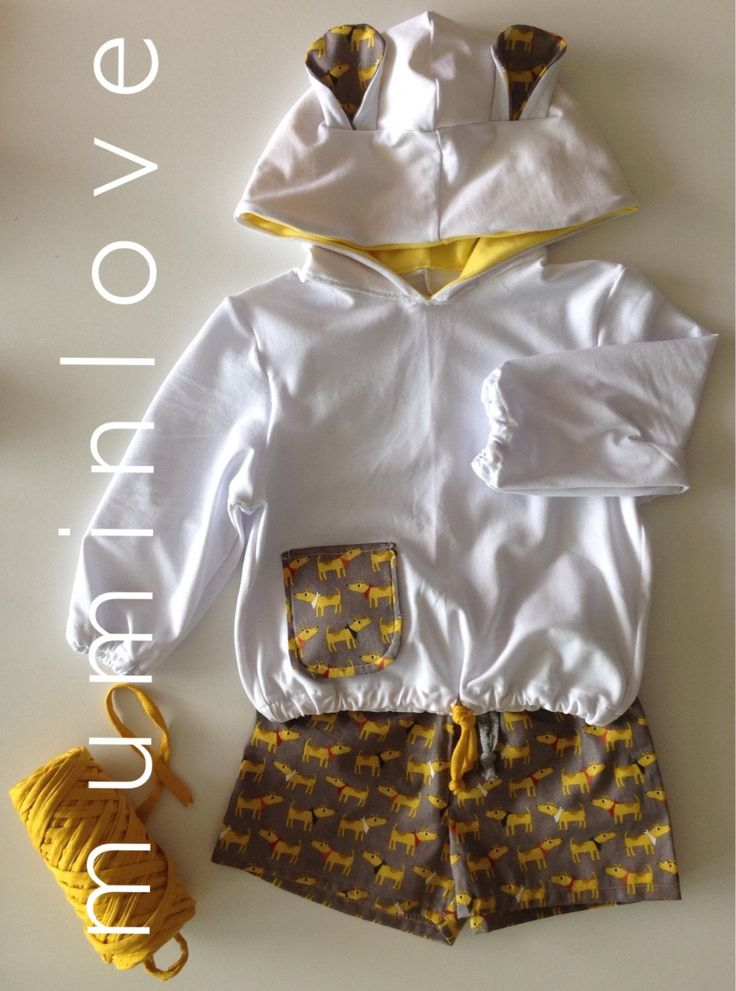 Completo felpa e pantaloncino, Jersey e cotone di Muminlove su Etsy