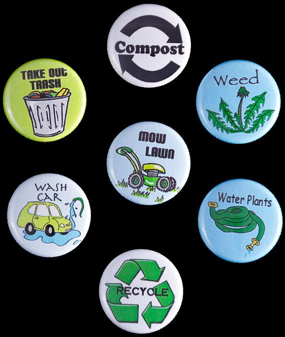 Chore Yard/Outdoor chore magnets set by SallySuesShop on Etsy, $7.00