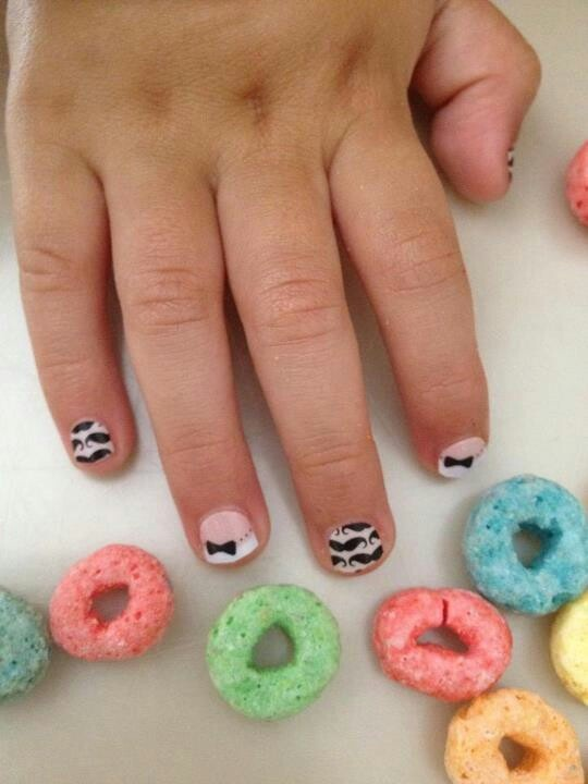 Cute Nails For Kids | Kaylinu0026#39;s | Pinterest | Cute Nails Moustache And For Kids