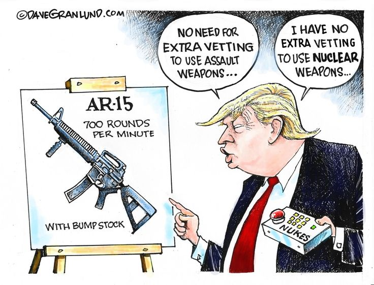 Dave Granlund Cartoon On Extra Vetting And Gun Violence