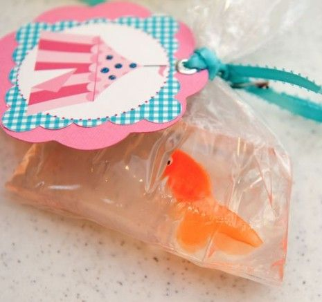 DIY Tutorial From A Catch My Party Member - How to Make Goldfish in a Bag Soap