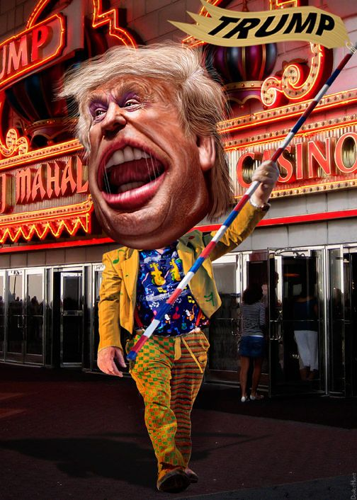 Donald Trump - Drum Major Clown   by DonkeyHotey