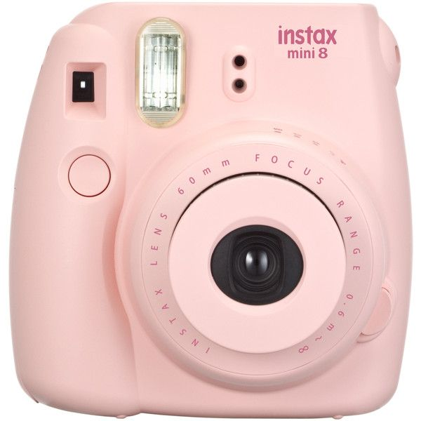 Fujifilm Instax Mini 8 Pink Instant Camera   Jo-Ann ($70) ❤ liked on Polyvore featuring accessories, camera, fillers, backgrounds, electronics, detail and embellishment
