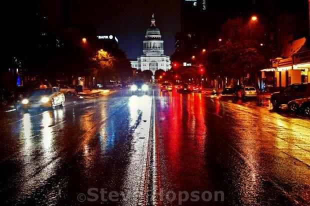 """Steve Hopson's Lens - """"A Rainy Night on Congress Avenue"""": AustinistRainy Night, Steve Hopson, Congress Avenue, Hopson S Lens, Hopson Lens"""