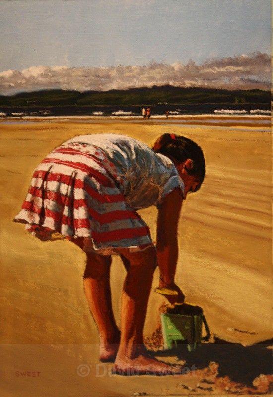 Beach Girl - Portstewart - Paintings