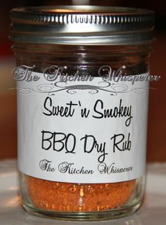 Sweet 'n Smokey BBQ Dry Rub ~ this is awesome on chicken, shrimp, lobster (on the grill is AMAZING!), vegetables and so forth...