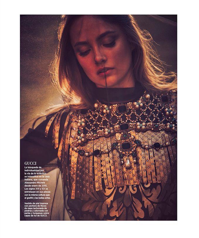 Кармен Педару (Karmen Pedaru) в Harpers Bazaar Spain