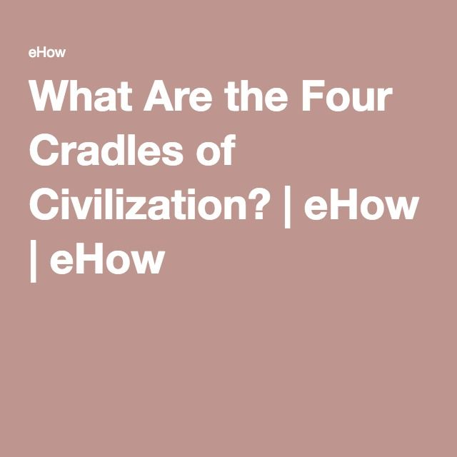 What Are the Four Cradles of Civilization? | eHow | eHow