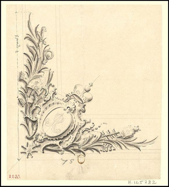 Saverne, château - quatre dessins de glaces et décoinçons pour lappartement de parade, 1720 by peacay, via Flickr