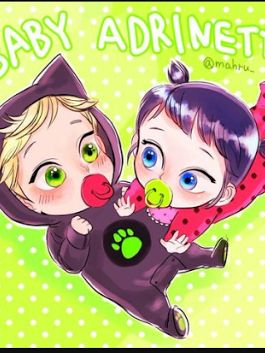 Baby ladybug and catnoir There so so so so so cute ...
