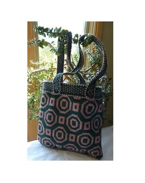 Geometric Tapestry Crochet Tote Bag 100 by MarinaDesignBoutique, $99.00