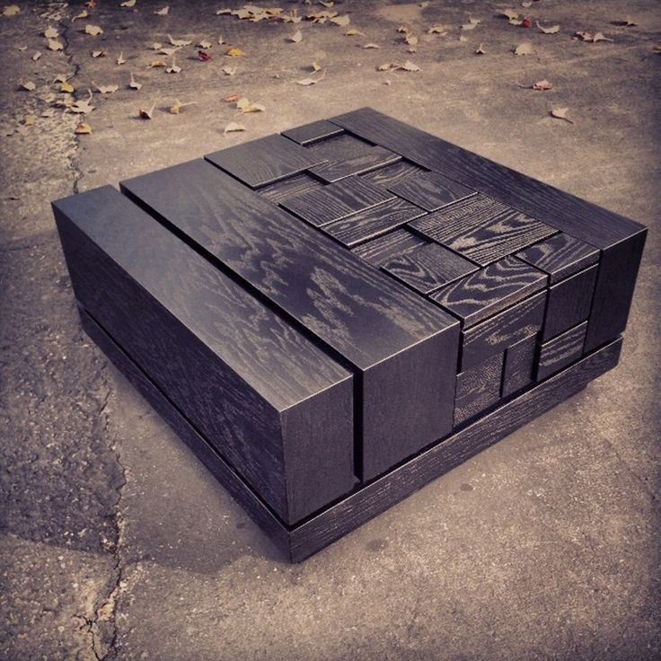 Black Square Coffee Table