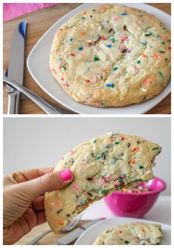 XXL Buttery Soft Sugar Cookie - this is dangerous. A recipe for one big cookie.