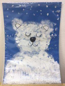 Sněžící obrázky - kroužek MŠ