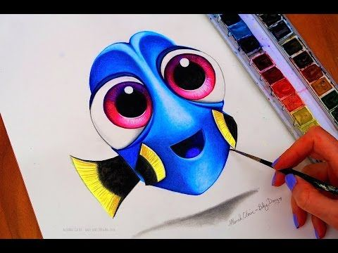 BABY DORY Drawing FINDING DORY - YouTube