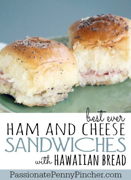 {Best Ever} Ham and Cheese Sandwiches with Hawaiian Bread - these are delicious as a meal or snack and perfect for on the go! Can't go wrong!