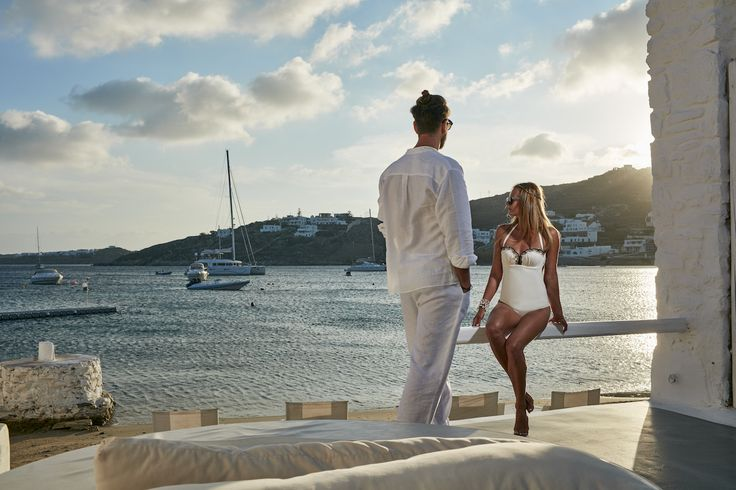 Mykonos Blanc gives me the privacy I need to enjoy time with my beautiful love while at the same time I can enjoy the glorious view of the Aegean sea. What an amazing experience! #MykonosBlanc #Mykonos #OrnosBeach #HotelInMykonos #MykonosHotel #Ornos #MykonosBlancHotel #Cyclades #Greece #Summer #LuxuryHotel #woman #girl #looking #standing #man