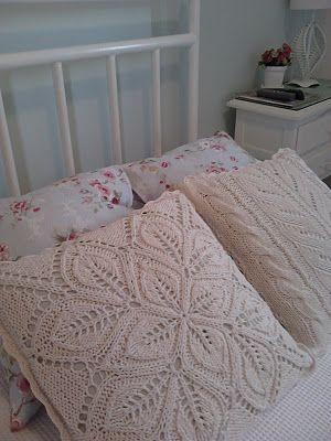 Almofadas de tricô