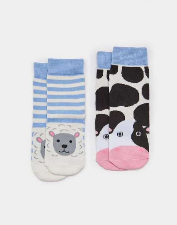 Joules Neat Feet Baby Two Pack Bamboo Socks