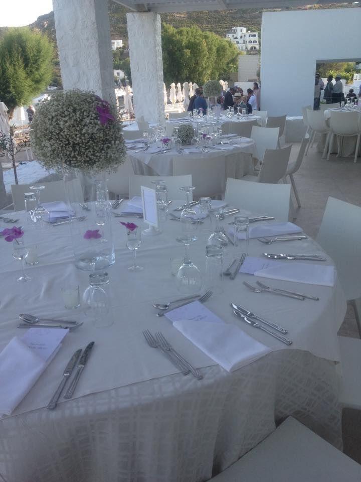 All set. | #wedding #preparations #patmosaktis #Apocalypsis