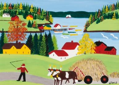 Maud Lewis 1903 - 1970 A VIEW OF SANDY COVE, Nova Scotia