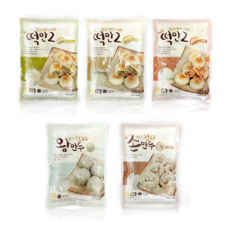 Easy chef / Dduck-Man2  Dumpling Package 5 series Design