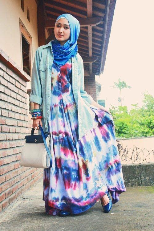 Gamis Tie Dye Dian Pelangi Terbaru