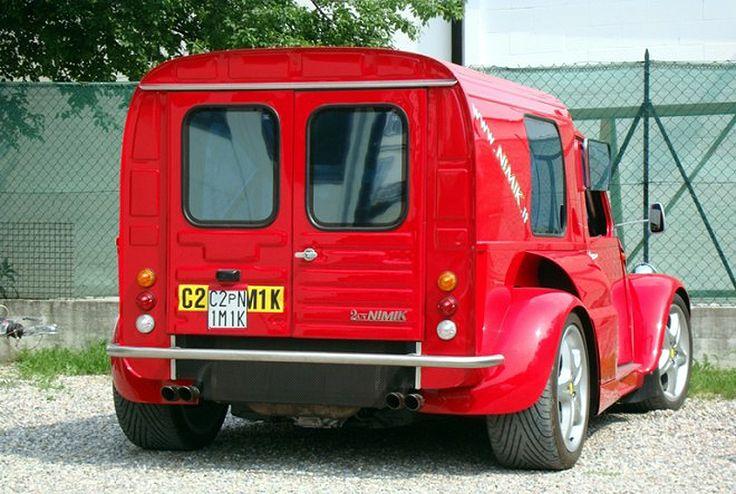 Citroen 2CV Van with 380 hp Ferrari 355 Engine Swap
