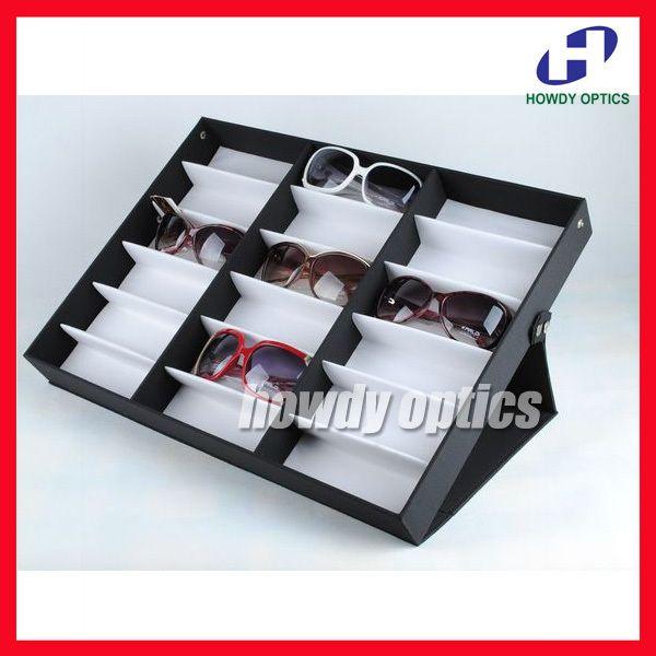 小売ディスプレイケースボックス18bアイウェアのサングラススーツケースのために利用できるパッティングの18個メガネ(China (Mainland))