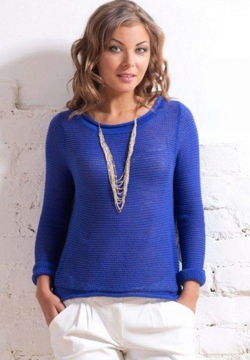 Синий свитер (56 фото): с чем носить