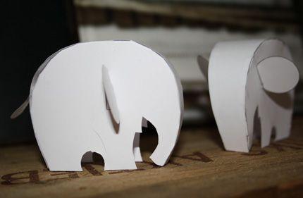 DIY paper elephant pattern