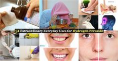 51 Extraordinary Everyday Uses for Hydrogen Peroxide via @vanessacrafting