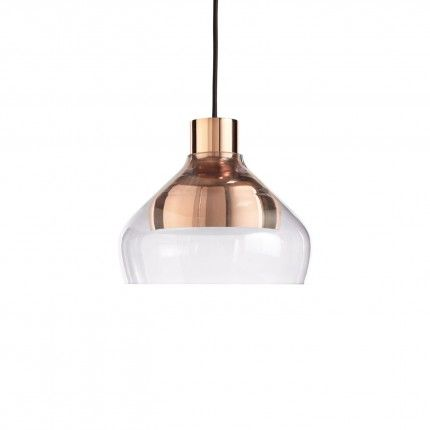 "Trace 4 Modern Pendant Light   10"" dia x 8""h  8' cord copper and glass  $299  bludot,com"