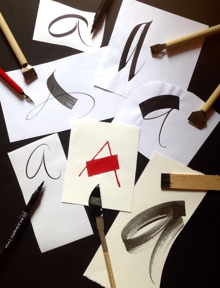 lettre une calligraphie de variations par rachel Yallop maîtres de calligraphie