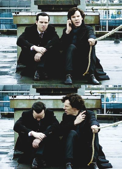 Jim Moriarty + Sherlock Holmes--funniest thing I have seen in awhile. Seriously. I absolutely loved this!