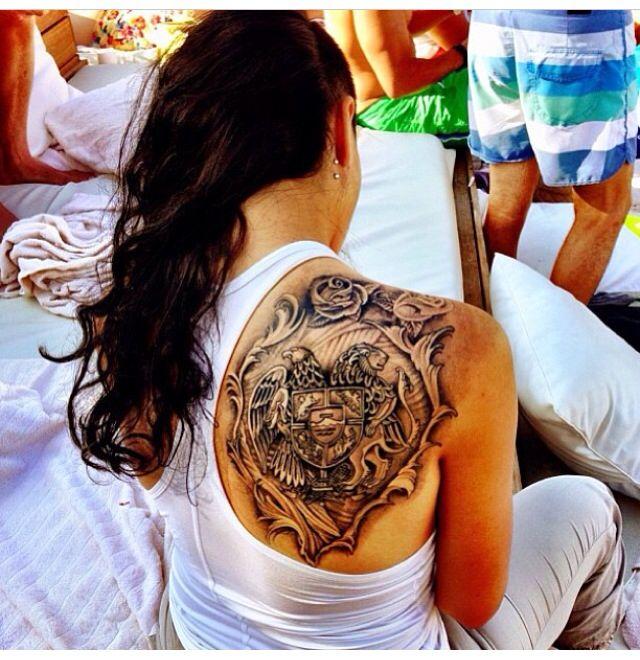 Armenian coat of arms tattoo  Tattoos  Pinterest  Arm tattoo