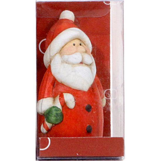 Kerst kerstman decoratie met jasje 7 cm  Kerstman met snoep kerstbeeldje gemaakt van terracotta (gebakken klei). Het beeldje is 3 x 3 x 7 cm groot.  EUR 2.25  Meer informatie
