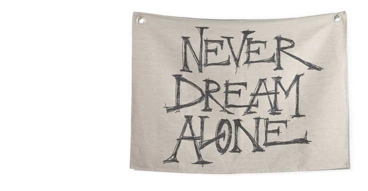 Relic Large Wall Hanging, 140cm x 100cm, Never Dream Alone, by Jimmie Martin